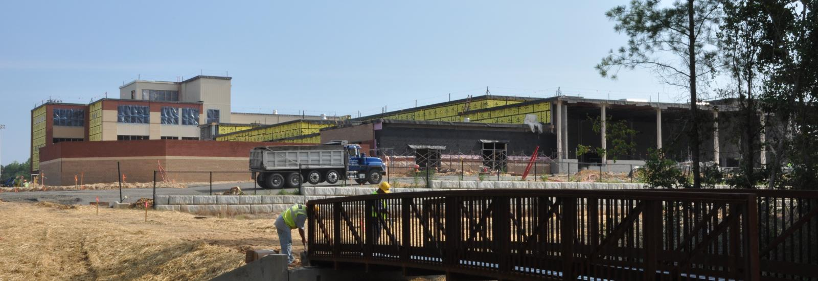 Rolesville Middle School construction