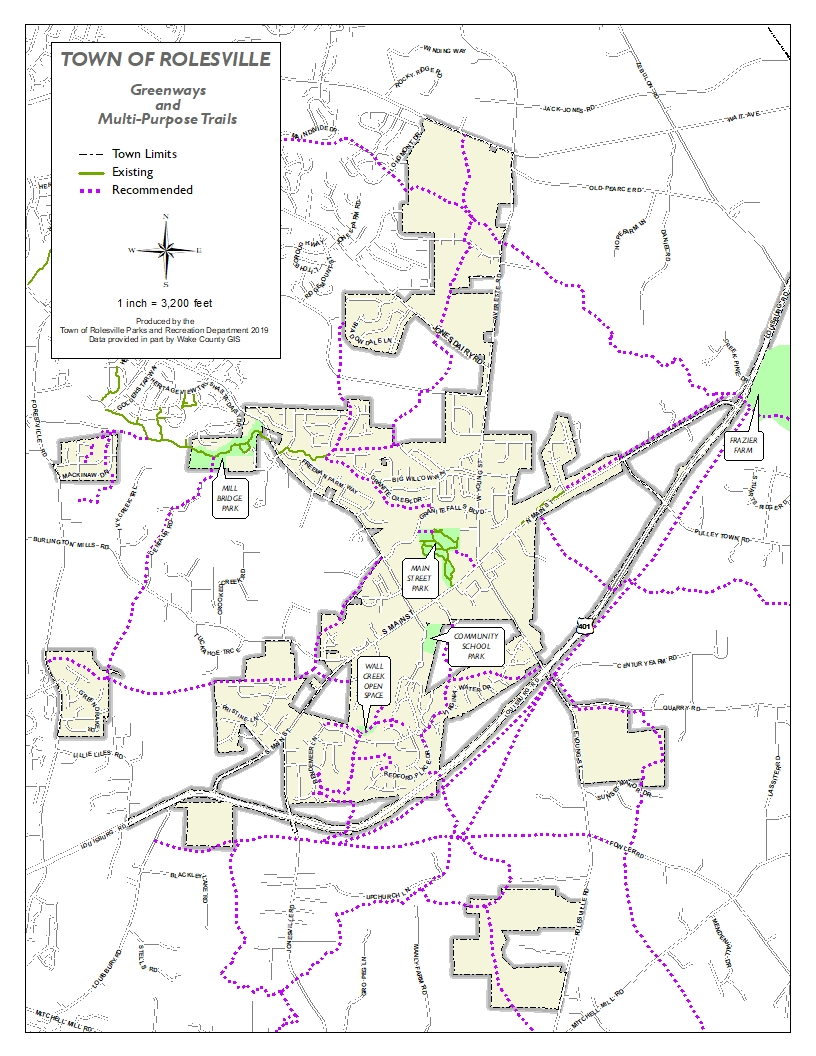 Current and proposed greenways map