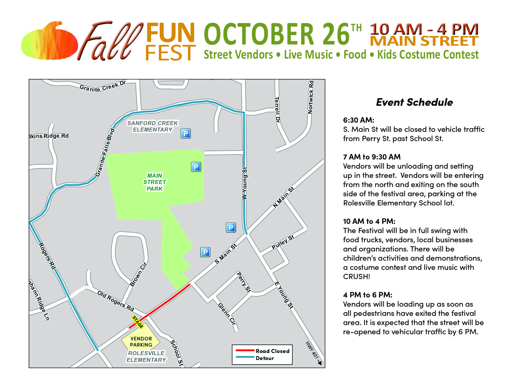 fall fun fest road map
